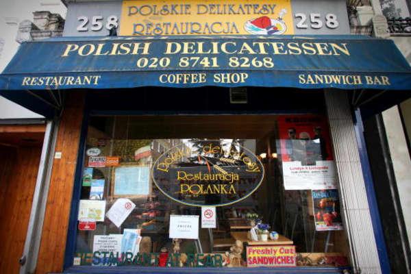 A Polish delicatessen in London.